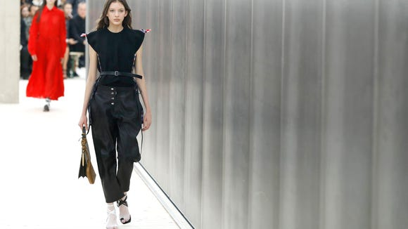 These sandals from the Celine show last year are black