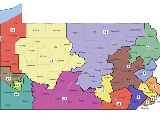 New Pa Congressional Map Challenged By Gop