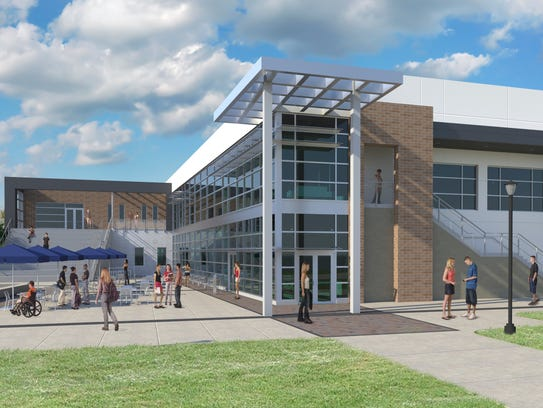 This is a rendering of the student union at Eastern