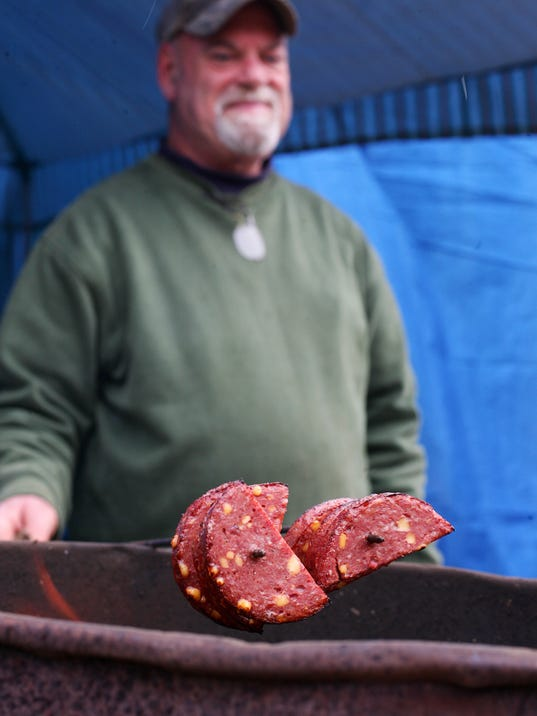 Deer processing at A'mays'ing Meats in Johnstown.