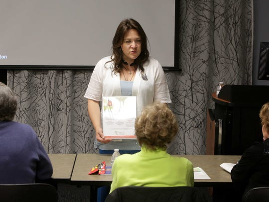 Healing Path class instructor Jenene Dean visits with