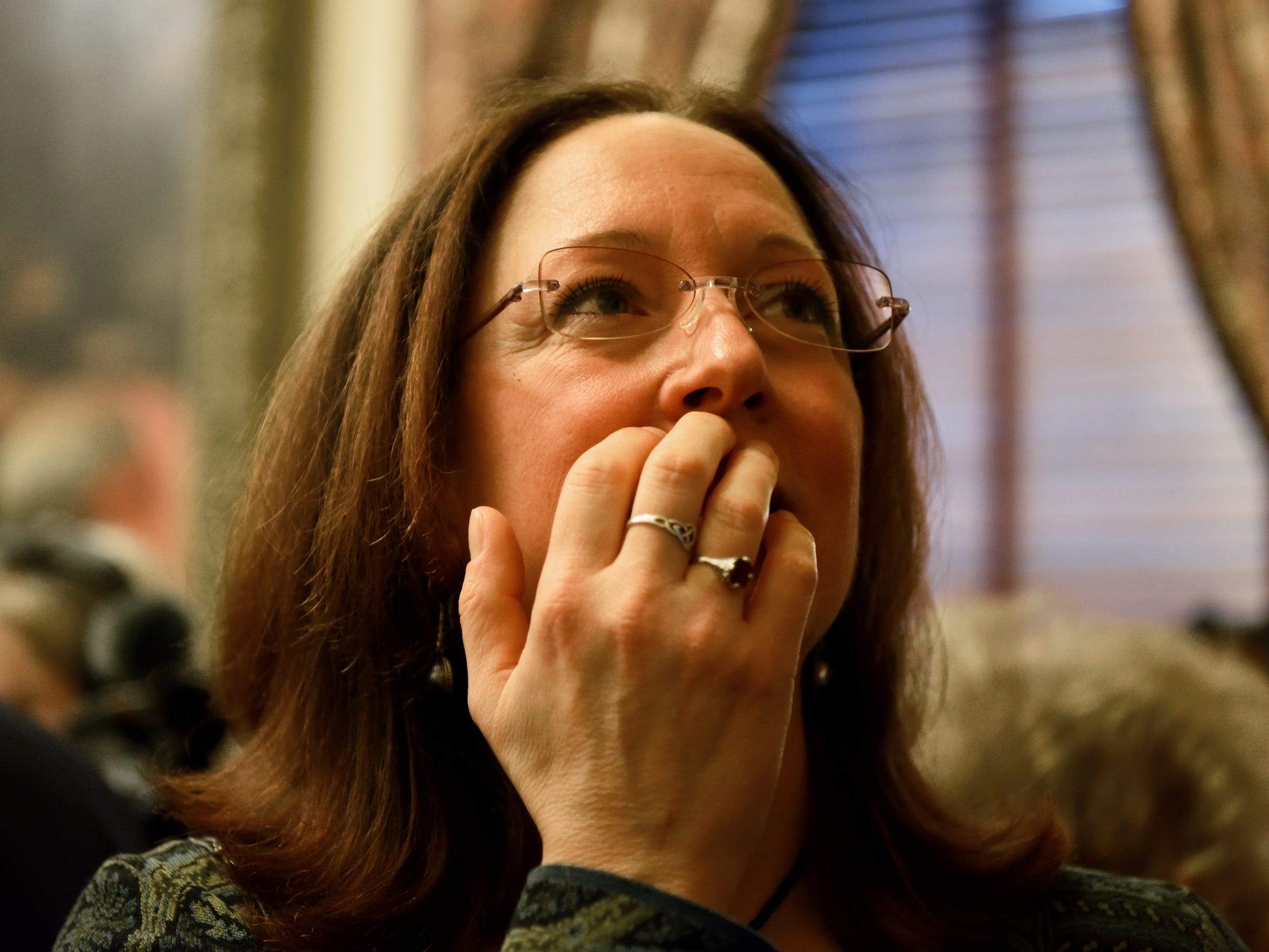 Adoptee Theresa Carroll of East Islip, NY ponders what