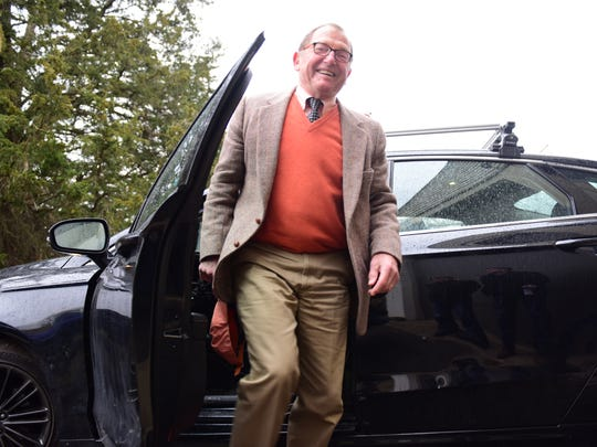 Princeton Professor Alain Kornhauser, the faculty adviser for the Princeton Autonomous Vehicle Engineering club, which is working to build a driverless car. In a garage on the Princeton University campus is a Ford Fusion outfitted with radar, cameras and computers.    Tariq Zehawi/NorthJersey.com
