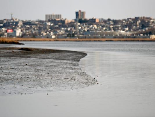 Contaminated mudflats on hackensack River