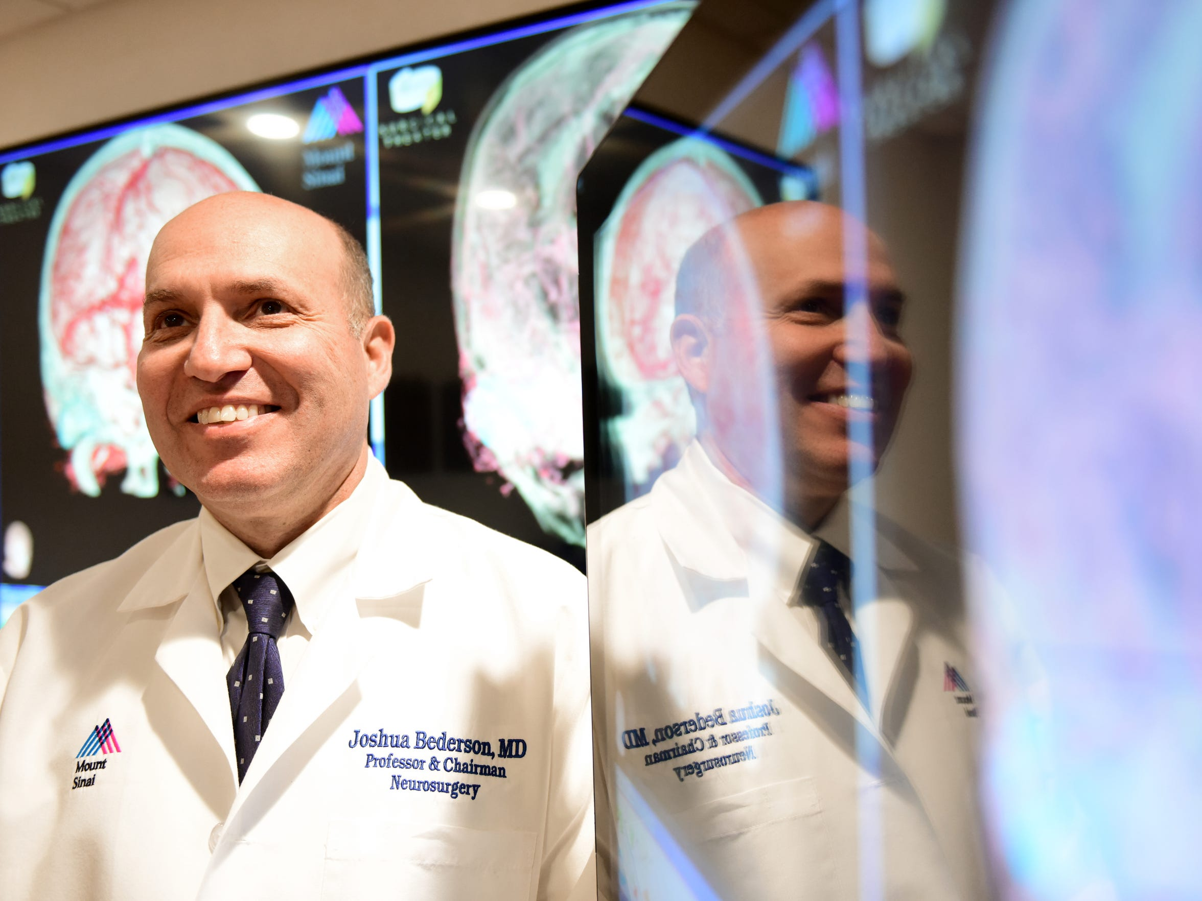 Dr Joshua Bederson, Chairman of Neurosurgery at Mount Sinai Hospital, performed surgery on Josh Schultz to remove a tumor from his head.