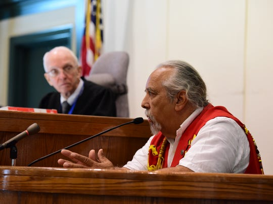 Chief Dwaine Perry of the Ramapough Lenape Nation testifies