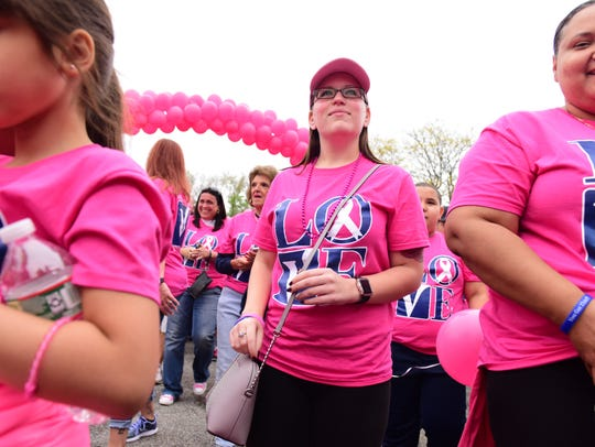 The start of the 9th annual breast cancer walk titled