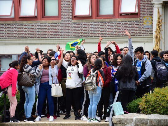 Cliffside Park High School students protest Oct. 16