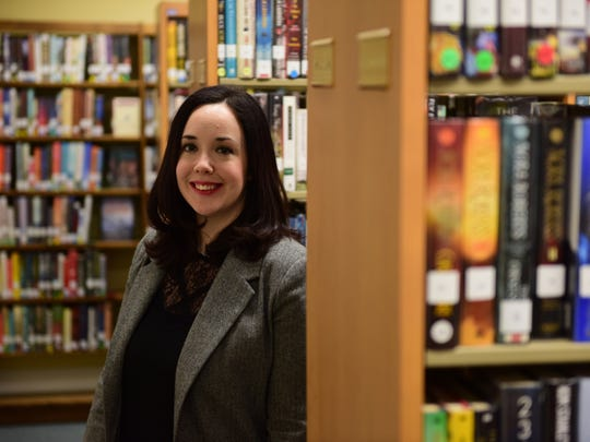 Gretchen Kaser, director of the Worth-Pinkham Memorial Library, one of Bergen County's smallest libraries, is making plans to expand.