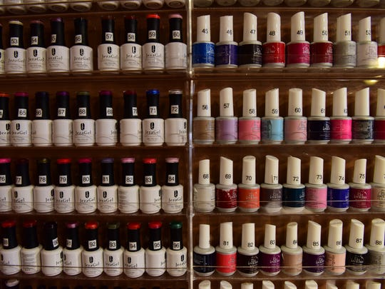 Nail salons offer a variety of colors.
