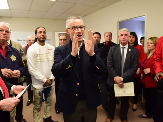 James McGreevey, Chairman of NJ Reentry Corporation, talks during the grand opening of their seventh office in Hackensack on Friday morning Febuary 2, 2018.