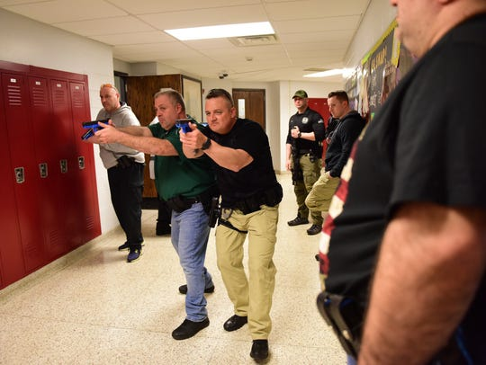 Members of the East Rutherford Police Department train