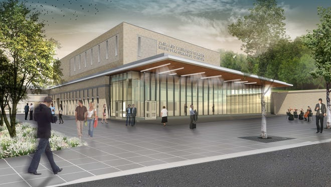 An artist's rendering of the planned performance center at Nazareth College.