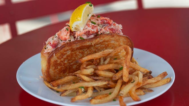 Lobster Roll and fries from Coastal Local Seafood