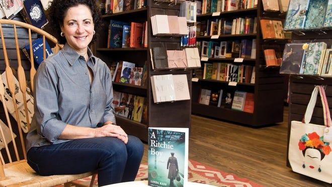 Linda Kass in her bookstore, Gramercy Books