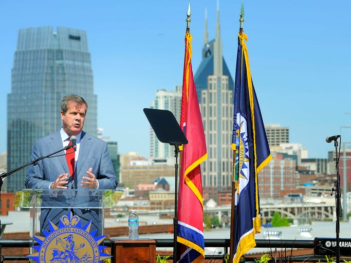 Mayor Karl Dean gave his annual State of Metro address, and his administration rolled out its 2014-15 budget proposal at the Rolling Mill Hills Greenway Overlook.<br />