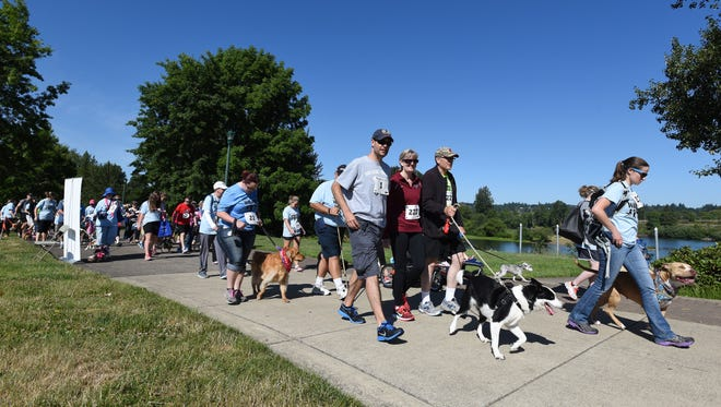 Dogs and their owners can participate in the WillaMutt Strut 5K Fun Run and Walk on Sunday, June 12, at Riverfront Park, 200 Water St. NE.