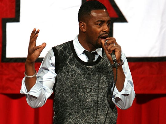 Rutgers alumnus and TV and comedy star Bill Bellamy came back to campus for the Bill Bellamy and Friends Laugh to Heal Comedy Fest Fundraiser for Eric LeGrand in 2011 at the Louis Brown Athletic Center in Piscataway.