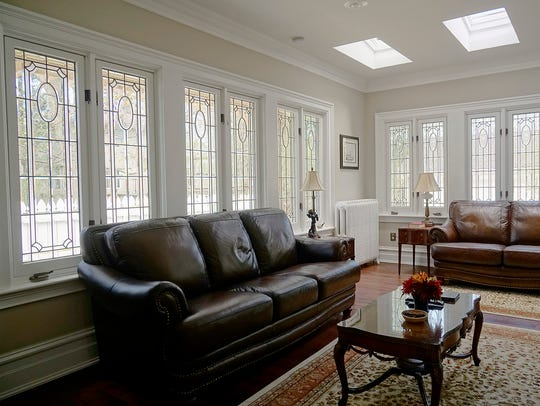 Skylights were added to the historic house in the 1980s. A previous owner found an old boot hidden in the ceiling.