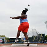 Sophomore Raven Saunders won her third national championship at the NCAA Outdoor Track and Field Championships on Thursday.