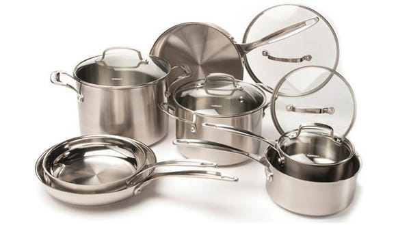 Add some class to your kitchen with stainless cookware