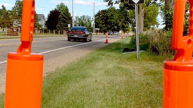 A repaving project on M-86 between M-66 and Shimmel Road is scheduled to begin Monday and continue through September.