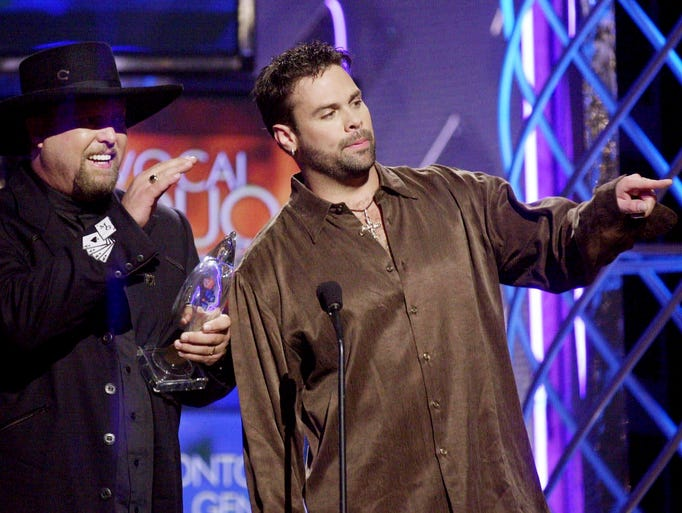 Eddie Montgomery, left, and Troy Gentry of the Country