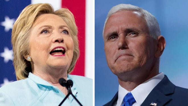 Hillary Clinton and Mike Pence