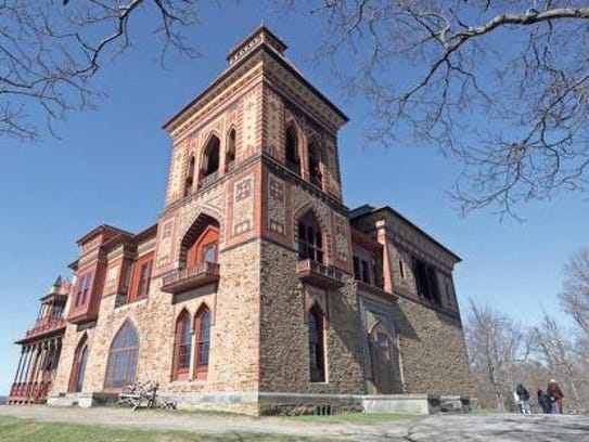 The home and grounds of Olana State Historic Site in