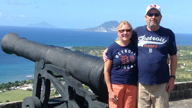 Joe and Debbie Bauer of Canton took the D to the Brimstone Hill Fortress National Park, on the island of St. Kitts in the Eastern Caribbean in January 2016.