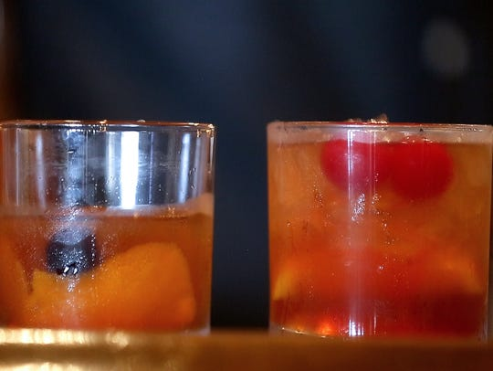 A classic-style old-fashioned and a Wisconsin-style old-fashioned are two of the signature craft cocktails at The Libertine. In May, the bar went strawless.