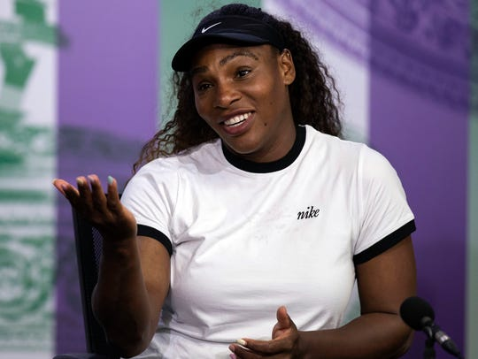 Serena Williams during a press conference on July 1.