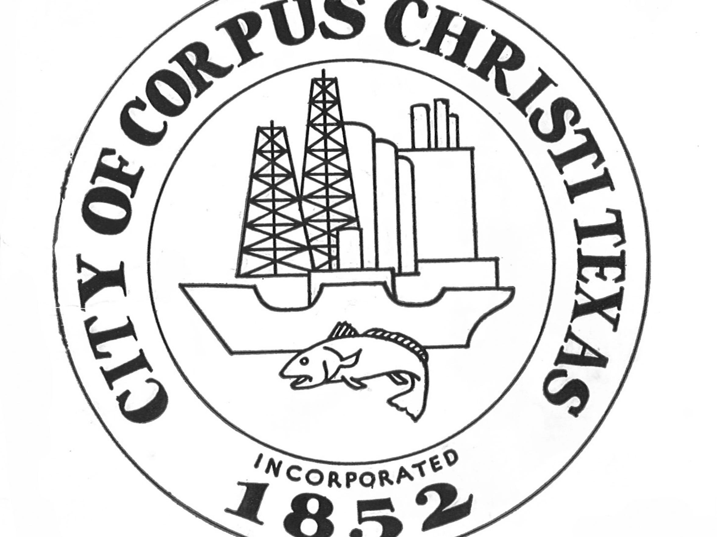 This was the official seal of Corpus Christi until it was redesigned in 1999.
