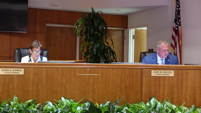 Maria Marino and Carl Woods were appointed vice mayor and mayor, respectively, by Palm Beach Gardens' city council during Thursday night's regular meeting. They were the only two council members to appear at the meeting in person.