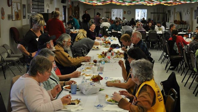 The community attends the 2013 Fernley Thanksgiving dinner. This year's fourth annual event will be served from 11 a.m. to 3 p.m. Thursday at the Fernley Senior Center, 1170 W. Newlands Ave.