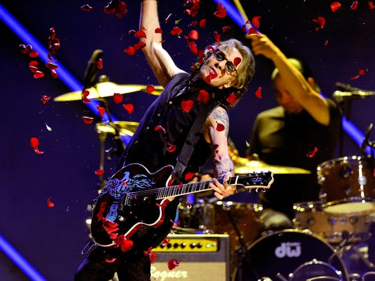 Rick Springfield performs during the iHeart80s Party at The Forum in Inglewood, California in February.