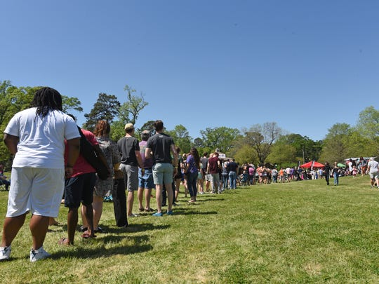 The line for mudbugs was always long at Crawfest 2017.