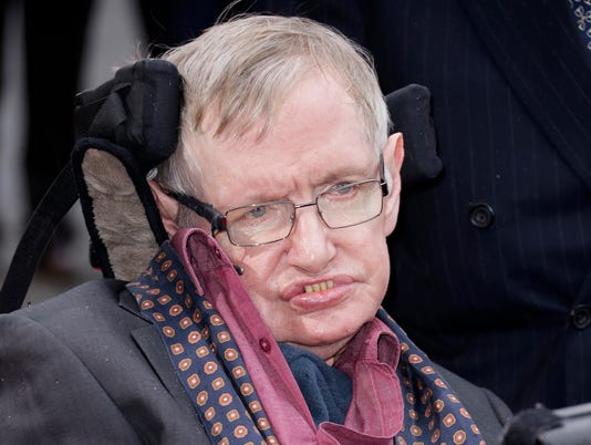 In This  File Photo Professor Stephen Hawking Arrives For The Interstellar Live Show At The Royal Albert Hall In Central London