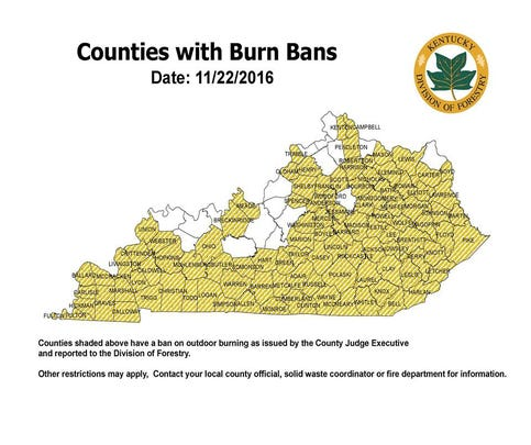 More than 100 Kentucky counties have issued burn bans as a result of a number of uncontrolled fires in the eastern part of the state.