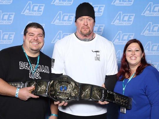 Newark's Steve and Tammy Ketterer with wrestler The Undertaker.