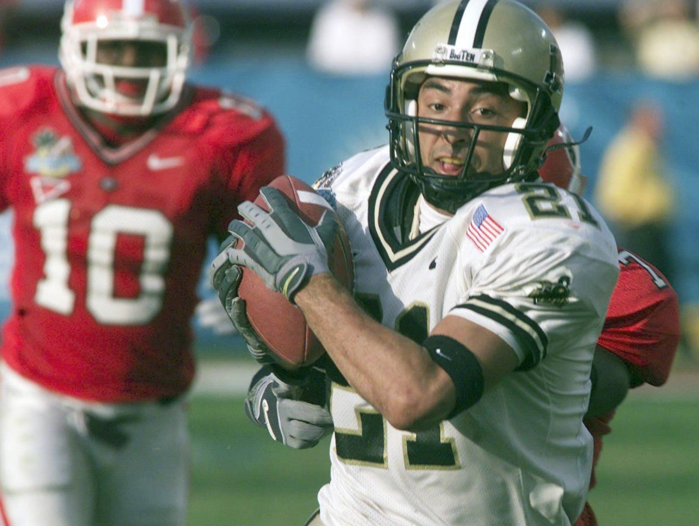 Purdue's Taylor Stubblefield set the NCAA career receptions