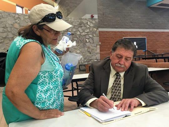 Jose Provencio helps Christina Huang complete an LCU