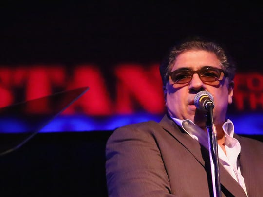 Vincent Pastore speaks on stage at the Veteran's Day Benefit Concert hosted by Stand For The Troops at The Concert Hall at New York Society For Ethical Culture on November 11, 2015 in New York City.