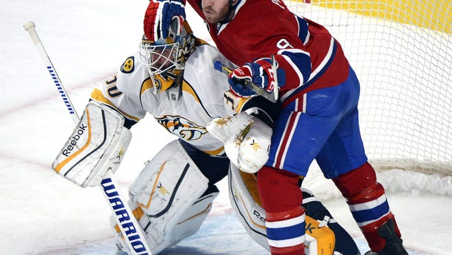 The Canadiens defeated the Predators 2-1 in overtime on Jan. 20.