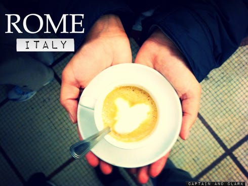 If you're traveling through Rome then expect to find yourself amongst the most passionate of coffee aficionados. According to a Roman, an espresso is a coffee; a cappuccino is a meal.
