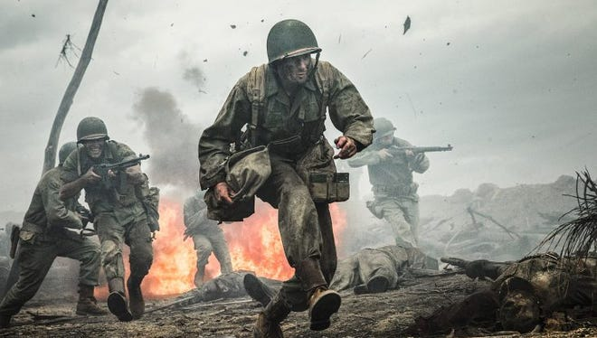 """Andrew Garfield plays conscientious objector Desmond Doss in """"Hacksaw Ridge,"""" directed by Mel Gibson."""
