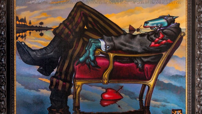 """Mitch Schwenke has the original """"Viceroy"""" hanging in his Blue Coyote Supper Club in Fort Myers restaurant, but it's not for sale."""