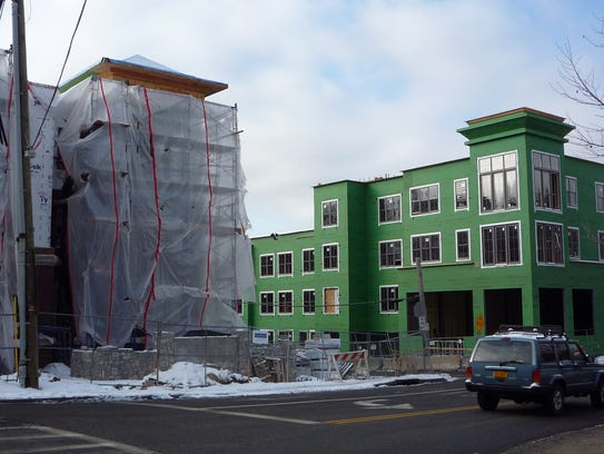 Construction of Quarry Place, a 108-unit luxury rental