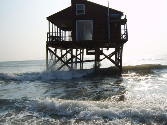 One of dozens of homes that were built on Cedar Island,