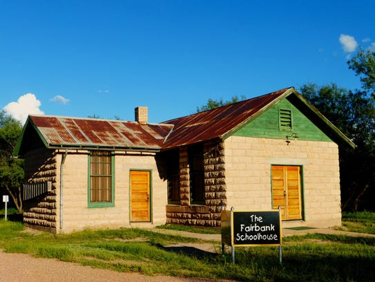 A few buildings are still standing at the ghost town